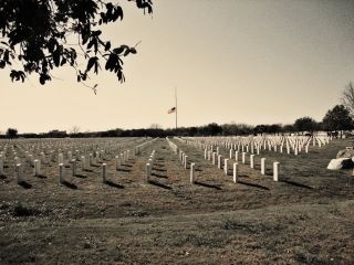 At Fort Sam Houston today, flag half mast, much love to that fallen Brother #NeverForgotten