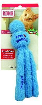 The Kong Cat Hugga Wubba is a super fluffy cat toy designed to encourage interactive play and fun. Features an internal rattle, crackle tails and catnip.