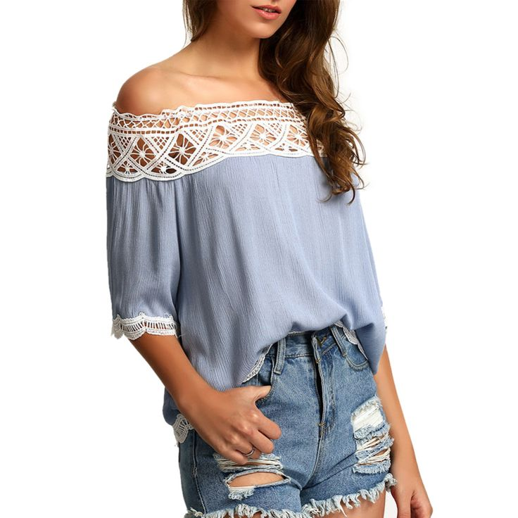 >> Click to Buy << HOT Summer Crochet Cotton shirt Women Off Shoulder Blouse Casual Crop Tank Tops Cover up Boho white Lace blouse Femme Blusas W5 #Affiliate