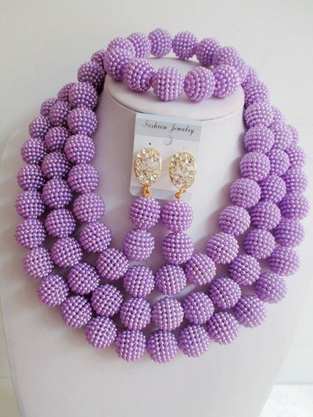 Find More Jewelry Sets Information about New! nigerian wedding african beads jewelry set lilac costume necklace bracelet earrings ABD594,High Quality necklace earphone,China necklace fan Suppliers, Cheap necklace collar from Alisa's Jewelry DIY Store on Aliexpress.com