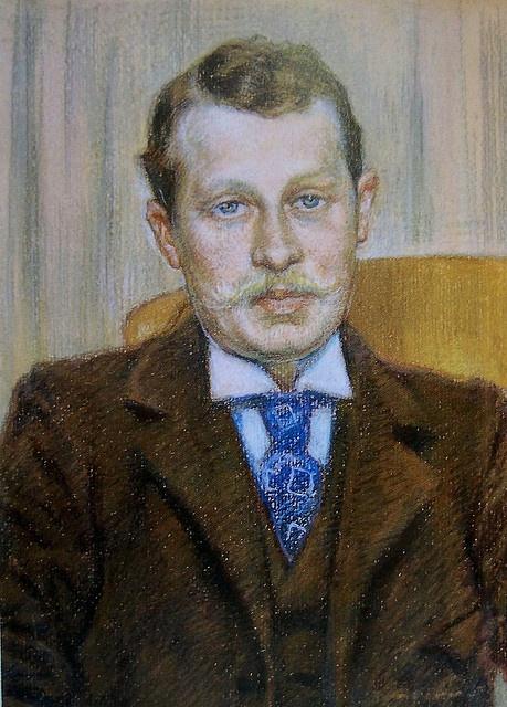 Portrait of a Man by Theo van Rysselberghe (Belgian 1862-1926)