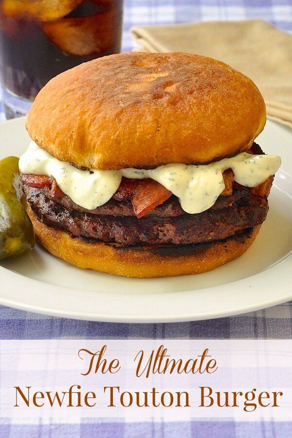 The Ultimate Newfie Touton Burger - Newfoundland loves toutons, so why not use them as burger buns. The texture holds up well to a big juicy burger and I've added some Newfoundland Savoury mayo for an extra local touch. Yum!