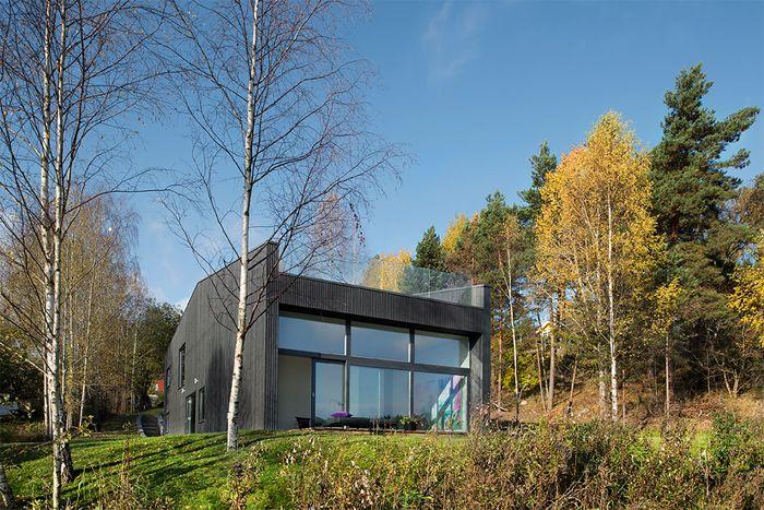 Темный скандинавский дом : Фотографии красивых вещей — мебель, интерьеры, архитектура