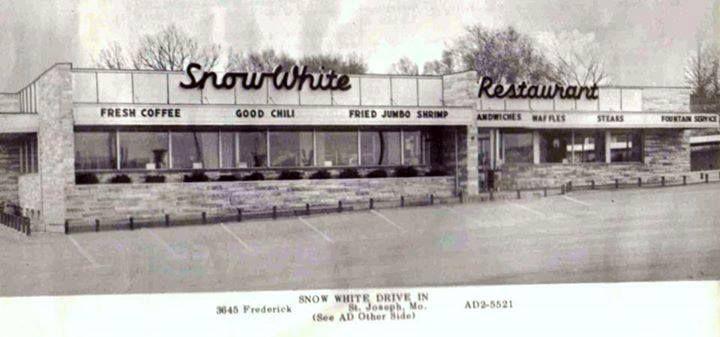 Snow White Restaurant. Location Belt & Frederick St. Joseph, MO.