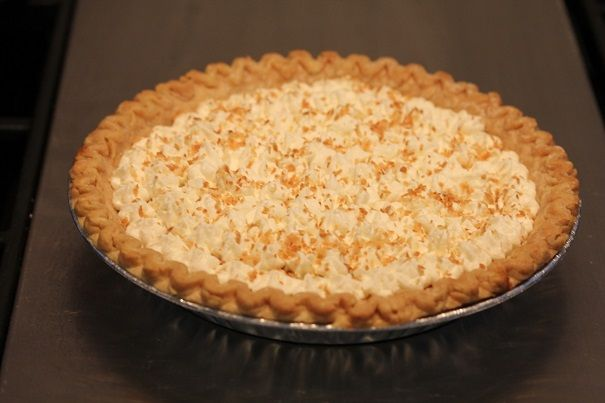 Laura Bush makes the most amazing Texas Buttermilk Coconut Pie with Whipped Cream