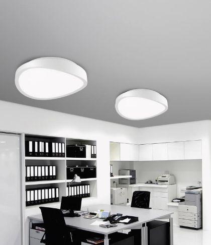 Kourtakis Lighting - LED #πλαφονιερα οροφής από σίδερο και ακρυλικό. Το χρώμα της είναι λευκό, είναι απλή και #μοντερνα. Ο φωτισμός είναι σε θερμό λευκό και διατίθεται σε τρεις διαστάσεις. Δείτε λεπτομέρειες: http://kourtakis-lighting.gr/fotistika-orofis-indoor-fotistika-krebatokamaras-fotistika-saloniou-diakosmisi/3580-led-monterno-fotistiko-orofis-40watt-iron-akrylic-onda-61471602.html