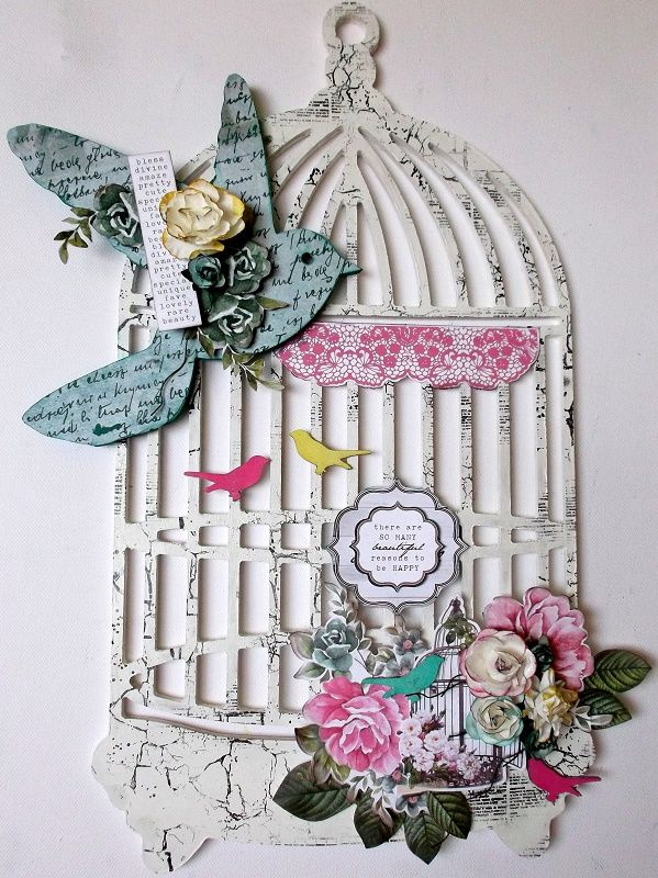 BTP- Bird cage for Kaisercraft Using the Oh So Lovely