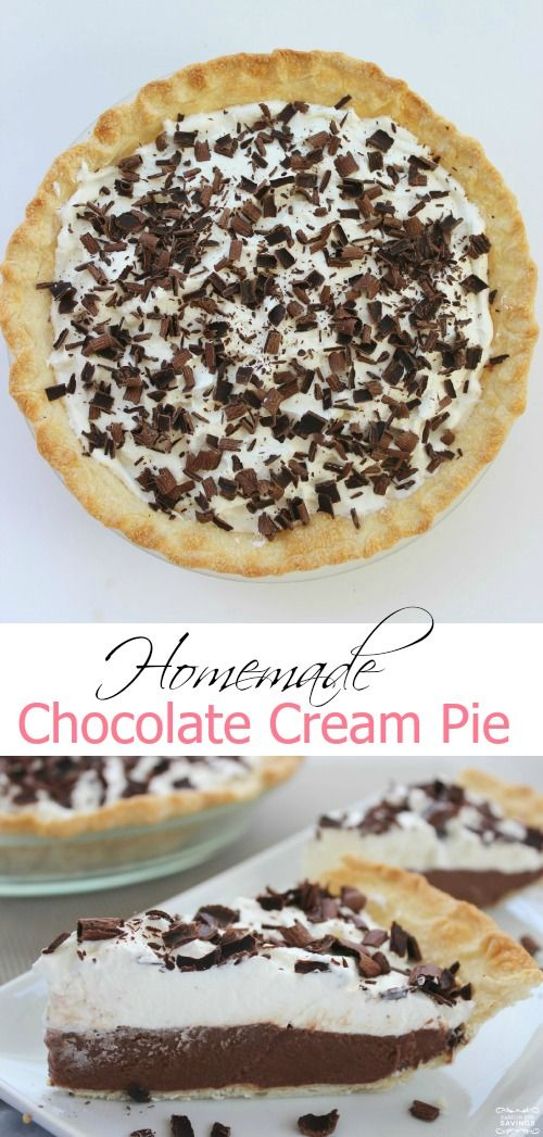 Homemade Chocolate Cream Pie Easy Recipe
