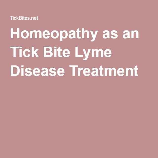 Homeopathy as an Tick Bite Lyme Disease Treatment