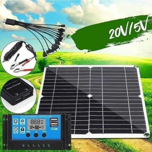 New Version 600w Solar Panel With 10 60a 12v 24v Controller Pwm Solar Panel Charging Controller For Rv Marine Lcd Display Wish In 2020 Solar Panels Solar Charging Cheap Solar Panels