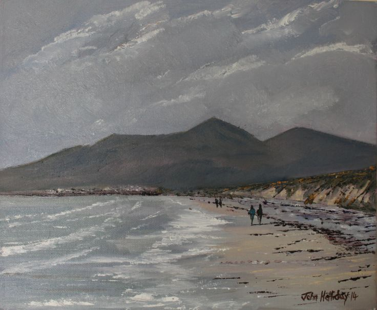 Mournes from Murlough Bay, oil on canvas board 12 x 10 in. More on artfinder.com/john-halliday