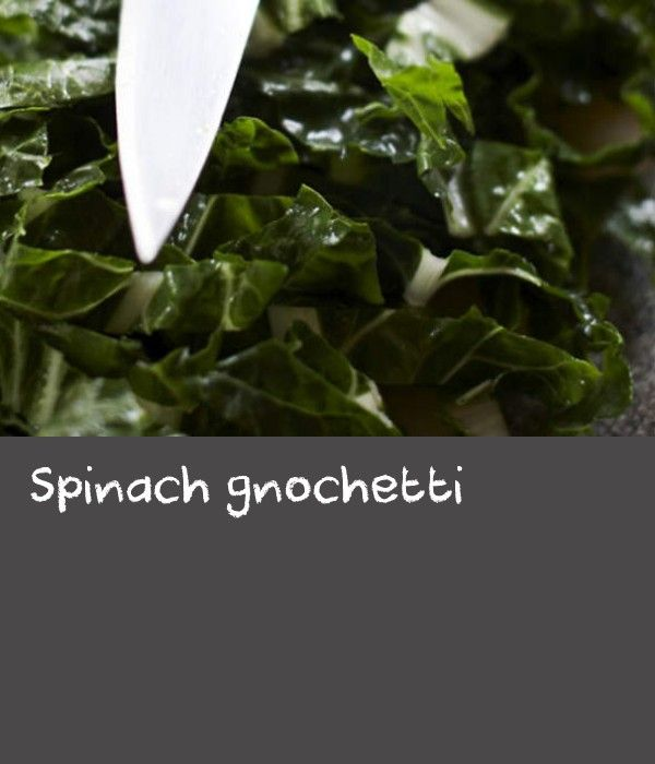 Spinach gnochetti | Katrina's baby spinach gnocchi are a beautiful shade of green, flavoured with herbs and nutmeg, then layered in a dish with the delicious additions of cream, parmesan and blue cheese. Katrina learned to make pasta from her husband's family, who come from northern Italy not far from Austria as the crow flies. She uses a spatzle maker for the gnocchetti, as Austrian and German cooks do. A spatzle maker looks like a grater with a sliding square cup attached to the top. The…