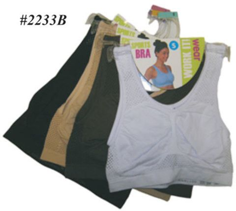 tank top sports bras - skintone colors Case of 72