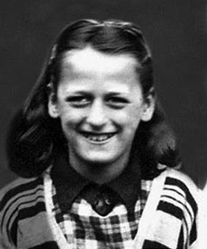 Myra Hindley as a little girl.  One of the murderers who committed the Moors Murders.