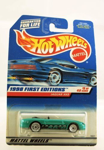 Hot Wheels - 1998 First Editions - Jaguar XK8 - #5 of 40 Cars - Green custom Paint - Collector #639 - Limited Edition - Collectible by Mattel. $0.75. Jaguar XK8 - Green Custom Paint. Hot Wheels - Collector Perfect. New - Mint - Rare - Limited Edition - Collectible. Collector #639 - Out of Production. 1998 First Editions. Hot Wheels - 1998 First Editions - Jaguar XK8 - Green Custom Paint - Die Cast - #5 of 40 Cars - Mattel - Collector #639 - Limited Edition - Mint in Package - ...