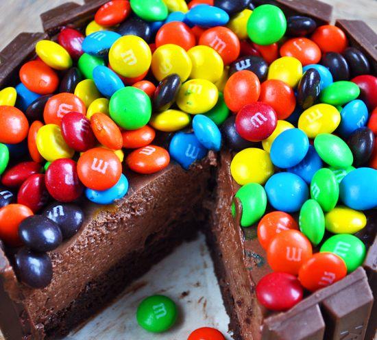 Kit-Kat and M&M's Mousse Cake – aka Candy Bar Cake