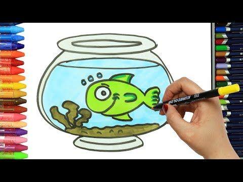 Cómo Dibujar y Colorear Pez Verde - Draw Green Fish - Learn Colors - YouTube