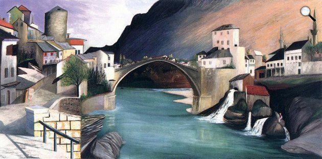 Csontváry Kosztka Tivadar: Római híd Mosztarban, 1903 (Fotó: Csontváry Múzeum)