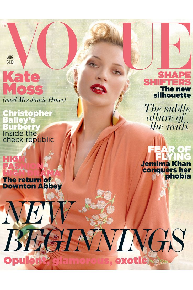 #Vogue #UK #cover, August 2011  It's her again. She looks so different and stunning here.