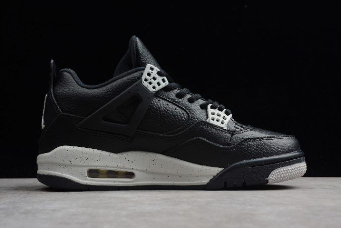 best website 39293 062a3 Mens Air Jordan 4 IV Retro LS Oreo Black Tech Grey 314254-003 Shoes-5