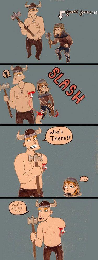 video game logic skyrim comic