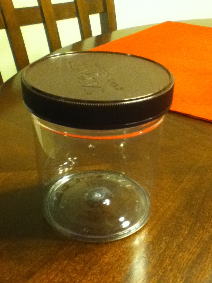 Repurpose Talenti gelato containers for other uses by removing the print with nail polish remover!