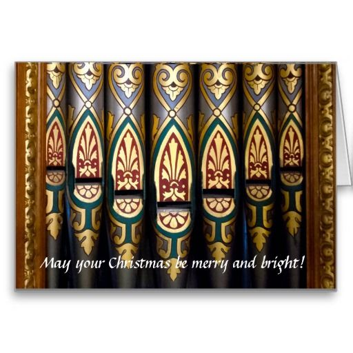 Pretty organ pipes Christmas card just sold