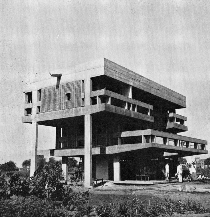 EUD I Vastu Shilpa Architects  Chinubhai House  Ahmedabad I 1960  122 best Modern Architecture 60s to 70s images on Pinterest  . Post Modern Buildings In India. Home Design Ideas