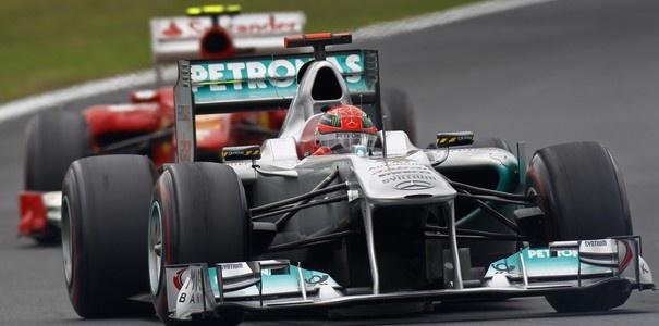 Schumacher leads