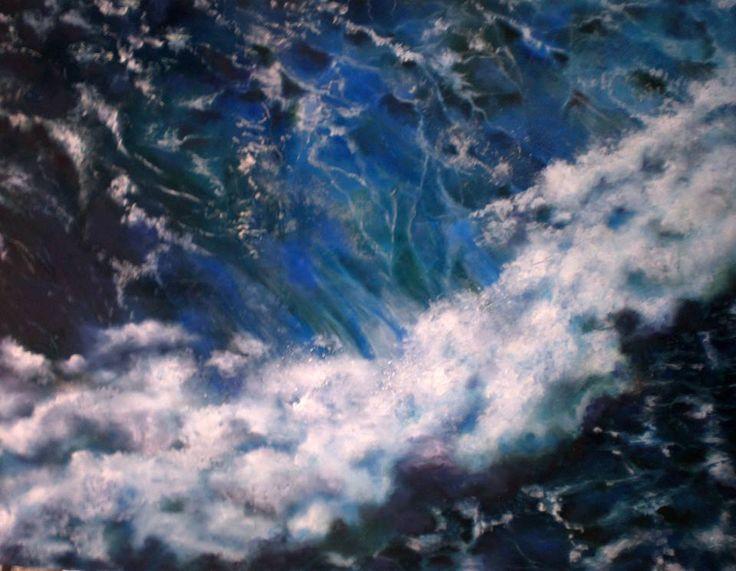"""""""Il mio destino è vivere, balenando in burrasca"""" olio su tela cm 150x100"""