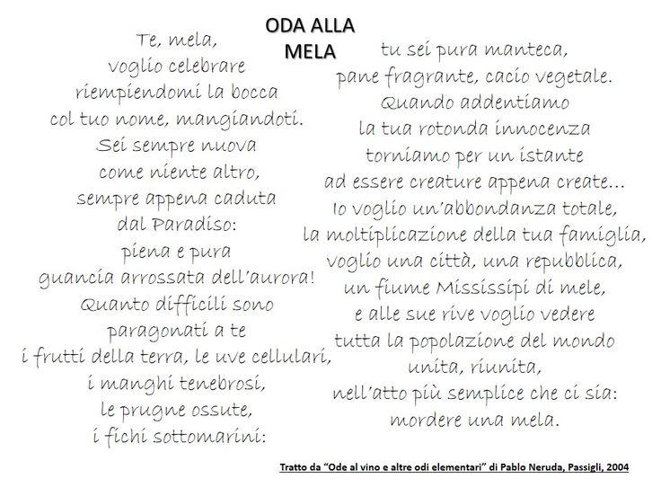Oda alla Mela di Pablo Neruda