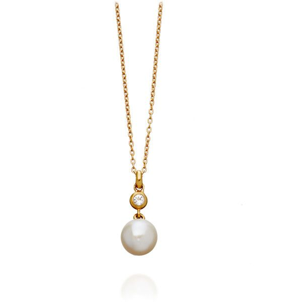 Manhattan Pearls White Topaz Orielle Pearl Drop Necklace ($175) ❤ liked on Polyvore featuring jewelry, necklaces, pearl pendant necklace, white topaz pendant, pearl drop necklace, drop pendant necklace and white pearl necklace
