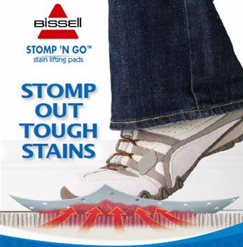 "If you have carpet, keep ""Stomp and Go"" pads for emergency stain removal. 