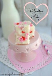 Easy Valentine's Day Cake Mix Fudge ~ Grandpa Shorter's Petoskey Michigan