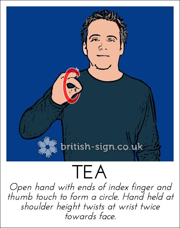 Today's British Sign Language sign is: TEA (drink) - view more at www.british-sign.co.uk #BSL #BritishSignLanguage