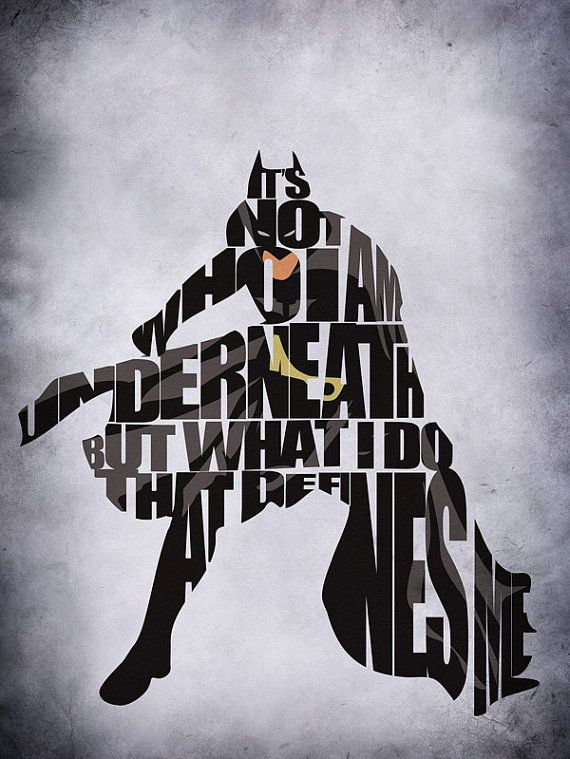 Batman Inspired Minimalist Typography Print & Poster