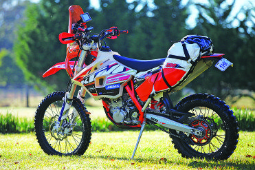 The modified KTM 500 EXC.