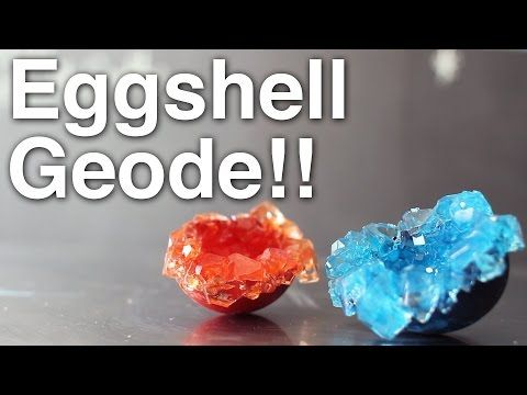 DIY Eggshell Geode!! - YouTube