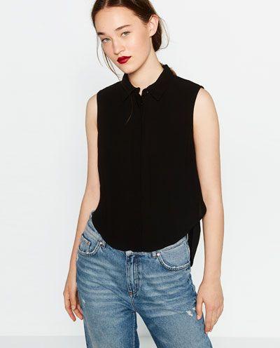 Shirt Sleeveless Zara