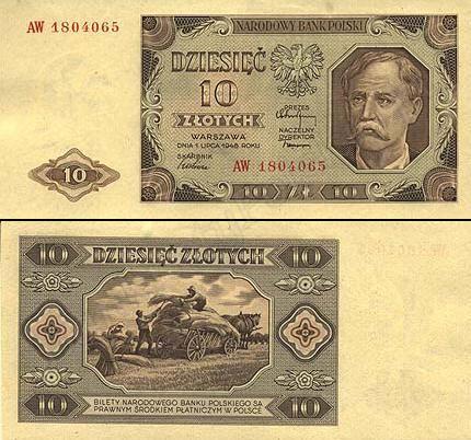 10 złotych najstarsze