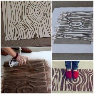 Wood graining.