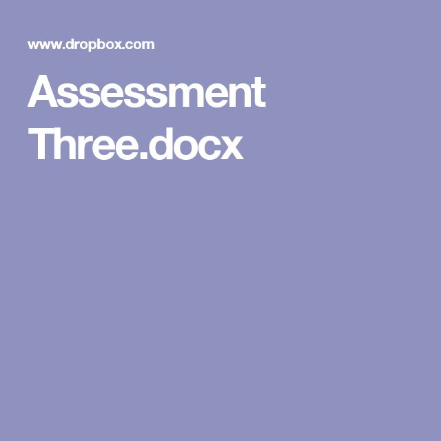 Assessment Three.docx