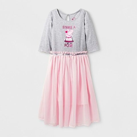 Peppa Pig Girls' Skater Dress - Gray