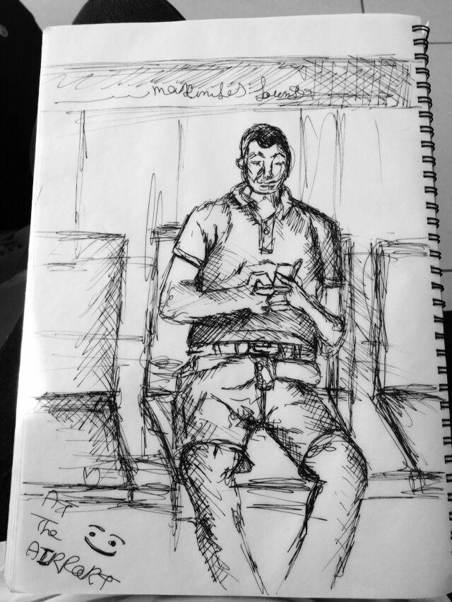 Fast sketch.. By Layana Khanakn
