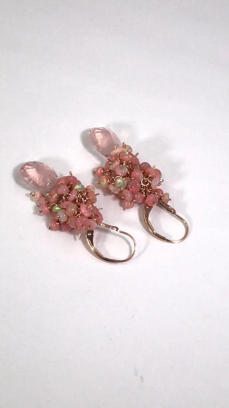 Clear Crystal Quartz Earrings Sterling Silver Petite Teardrop Dangles Wire Wrapped Briolettes