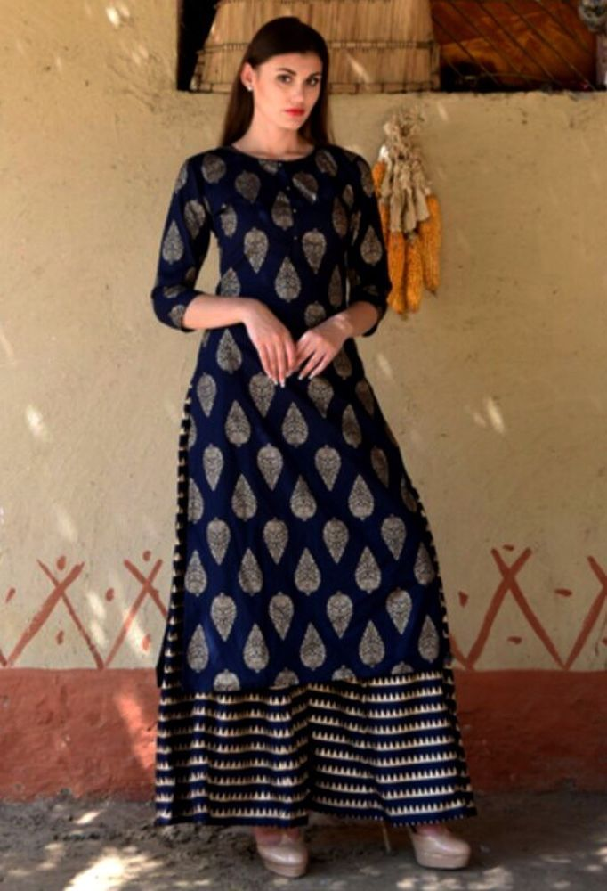 c9e59eb822 Indian kurta dress With Pant palazzo new TopTunic Set blouse Combo Ethnic  Bottom #Radhas #FitFlareDress #AnyOccasion