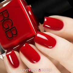Swatch of RGB Red Nail Polish (Core Collection)