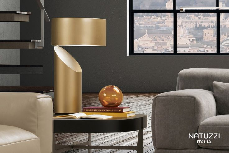 A table lamp that embodies purity of lines: Vico is a sculpture of light thanks to its rounded volumes and strong visual impact. #ItalianDesign #LuxuryLighting #Natuzzi @Natuzzi