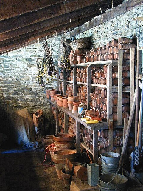 Like this idea for storing plant pots in my potting shed