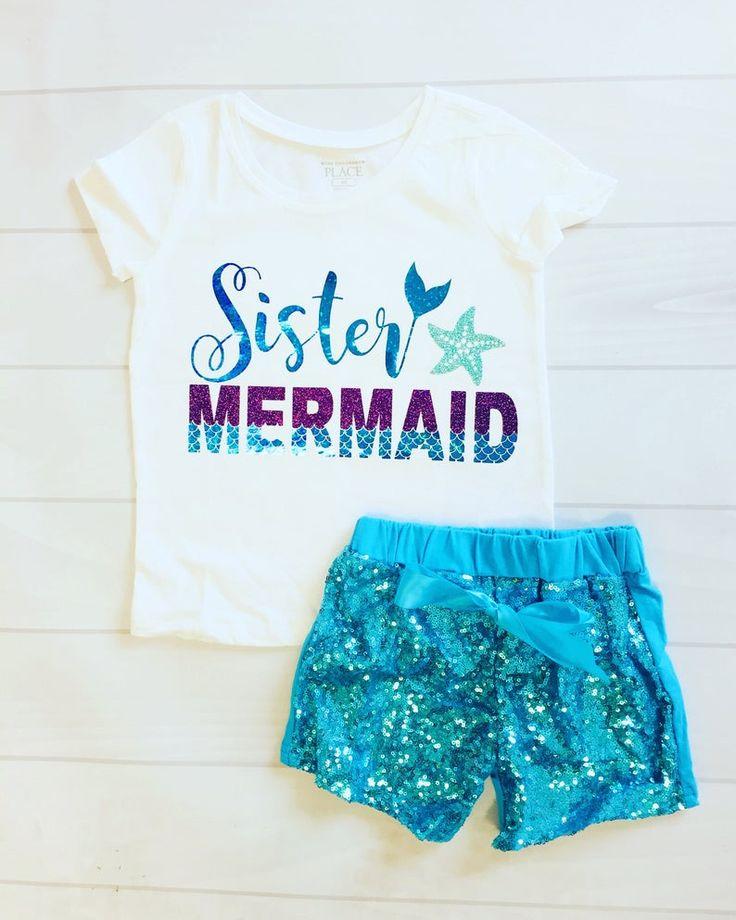 Sister Mermaid Custom Shirt Matching Shirt Family Shirts